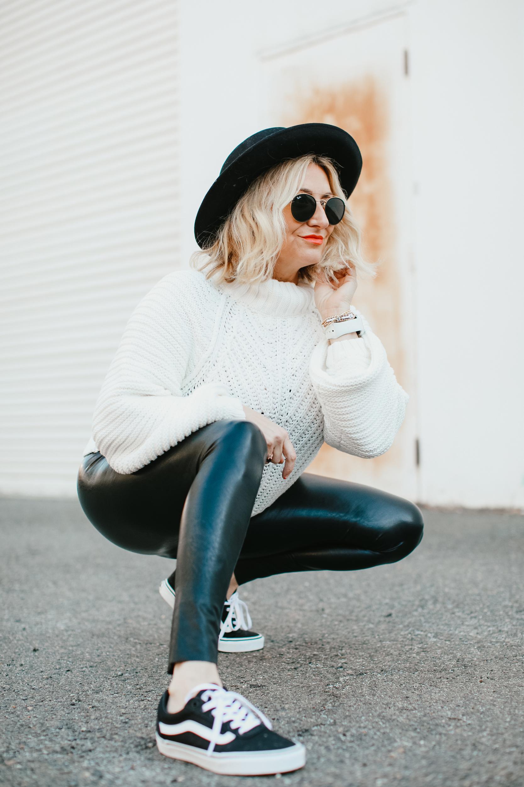woman posing in hat