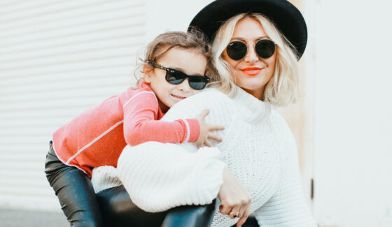 fashion mom and kid