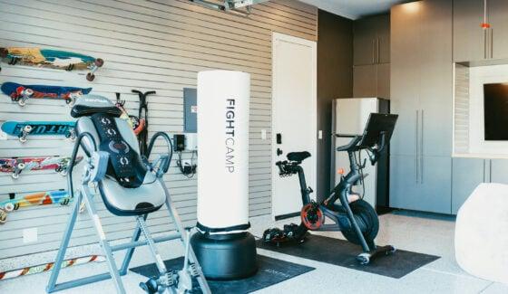 home gym in garage