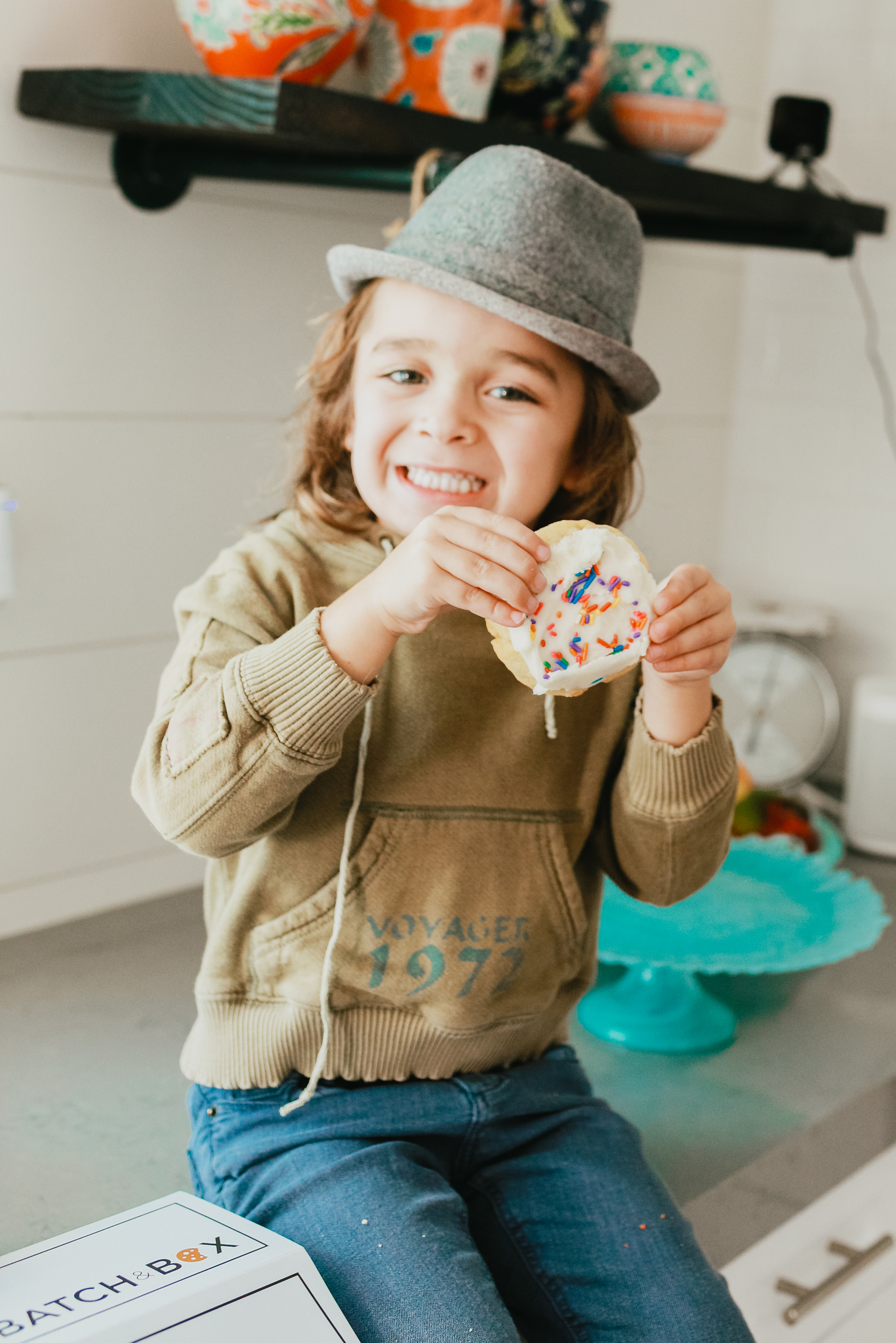 boy eating a cookie