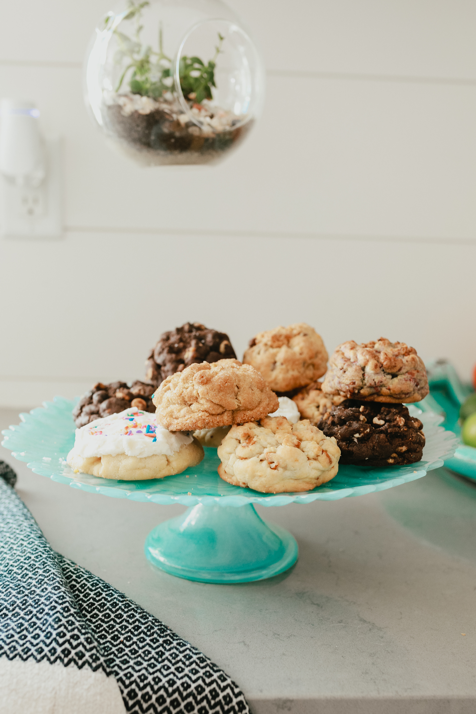 pile of cookies on platter