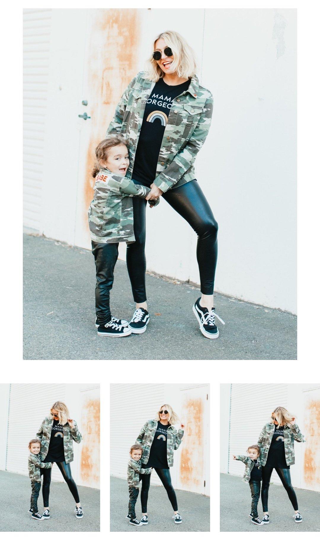 mom and child posing
