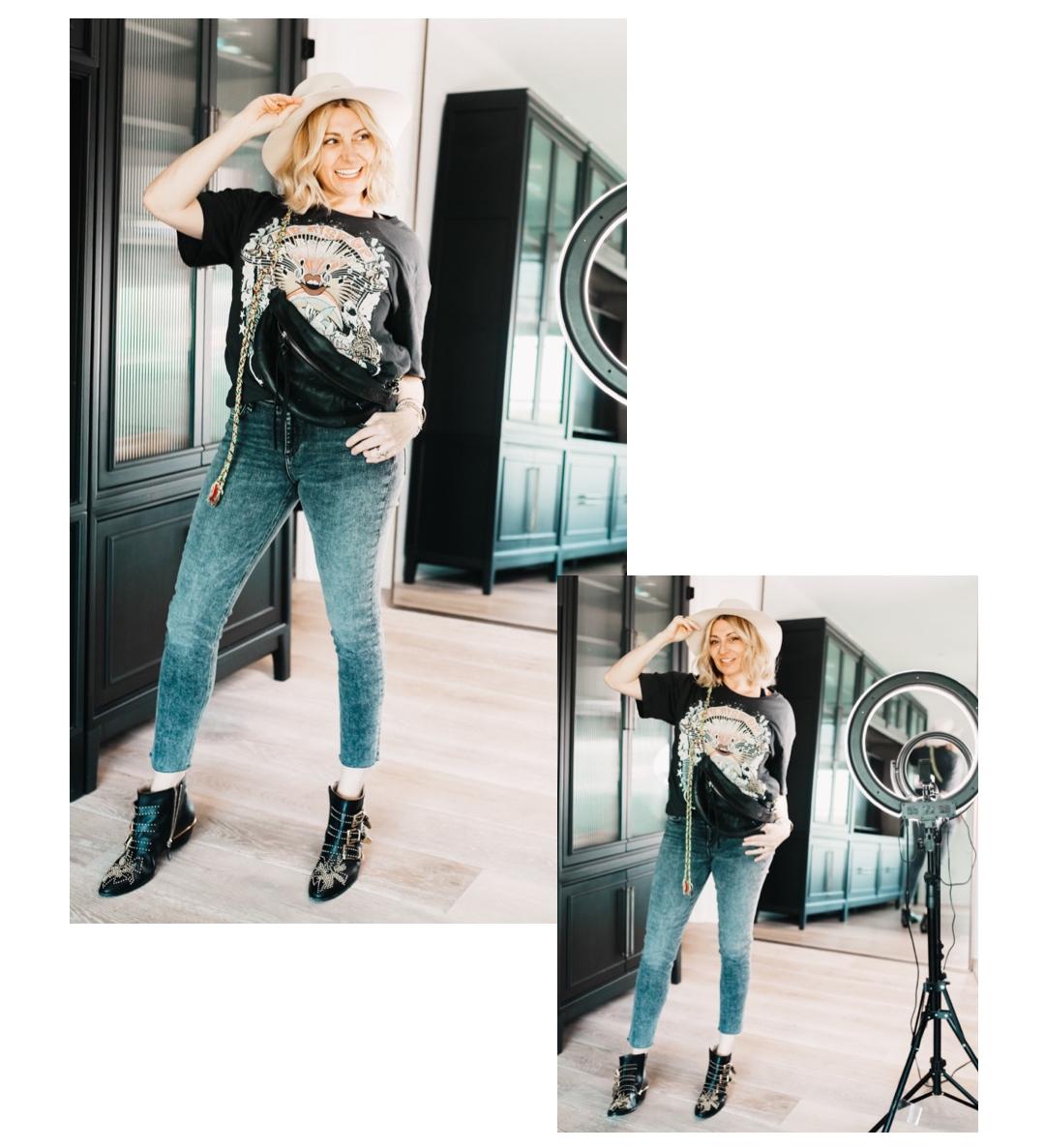 stylish woman posing