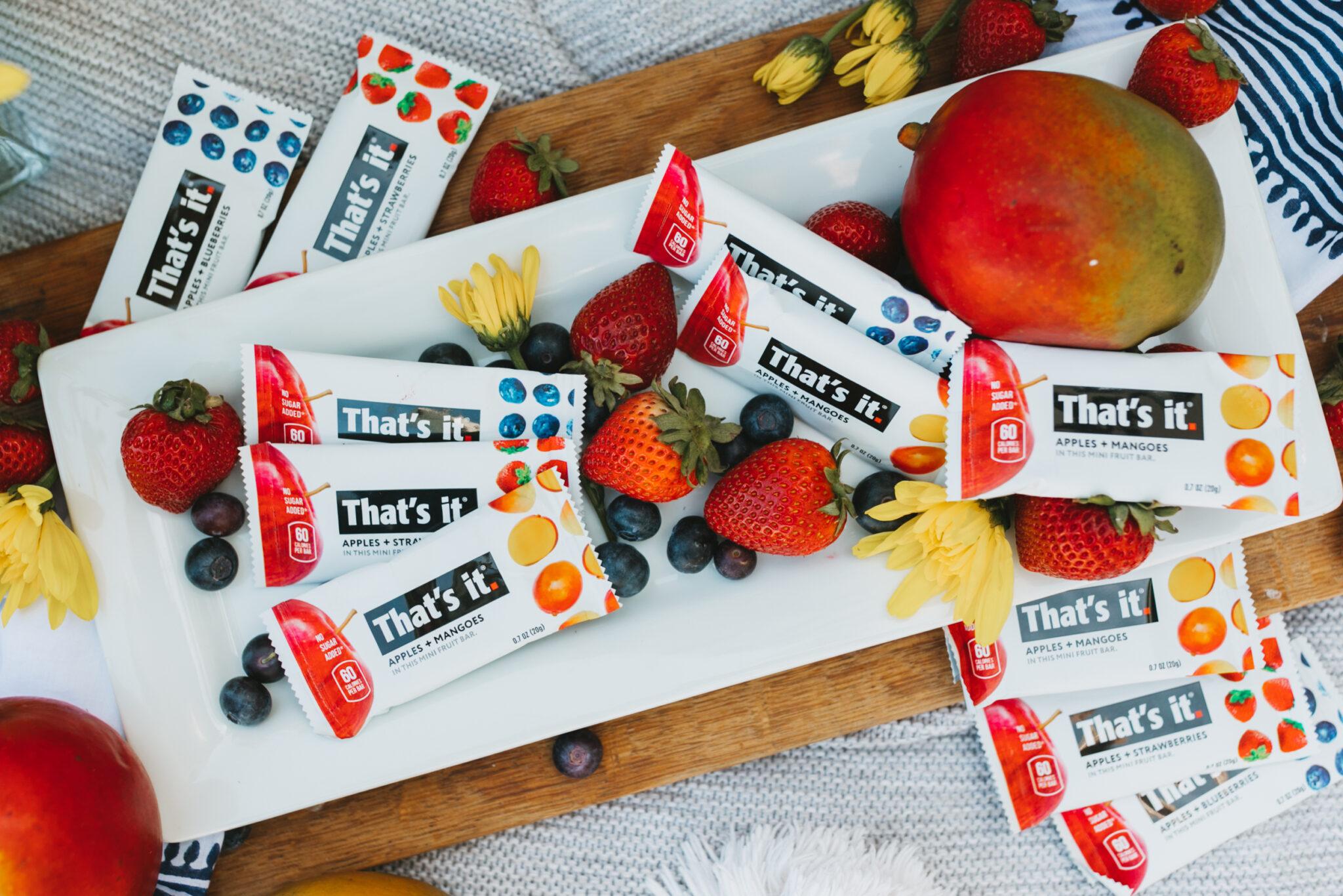 fruit snacks and fresh fruit