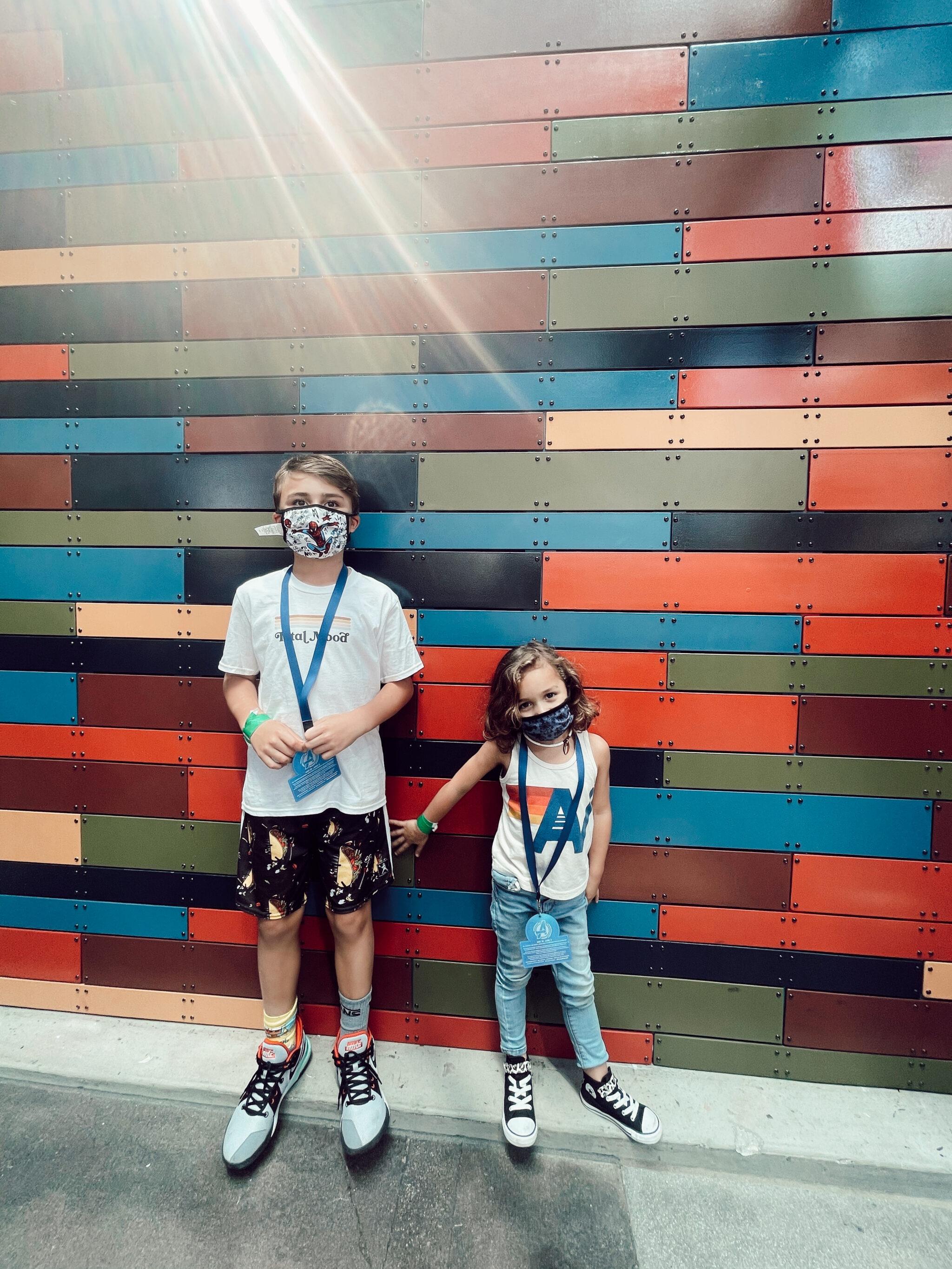 two kids at disney