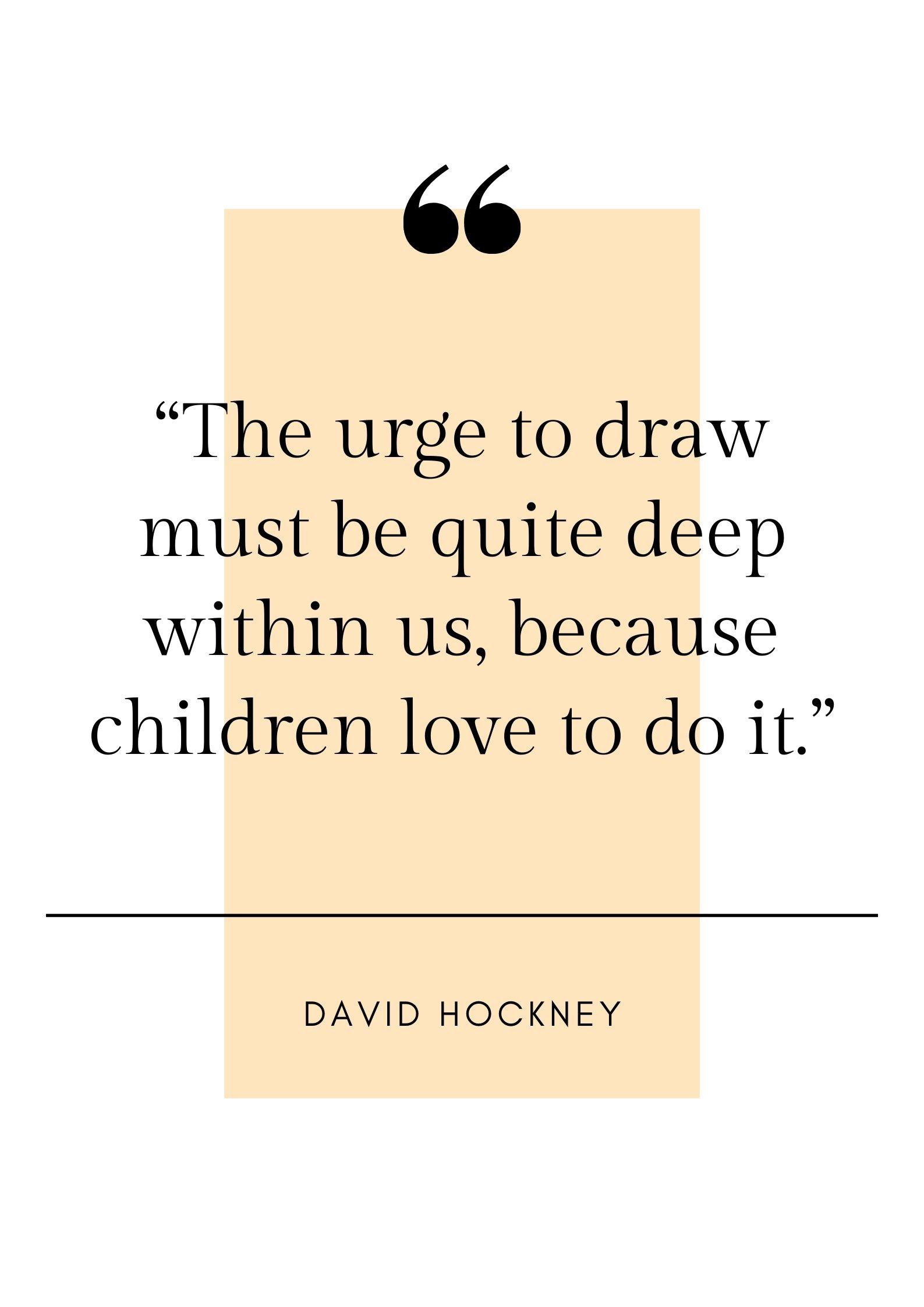 David Hockney quote