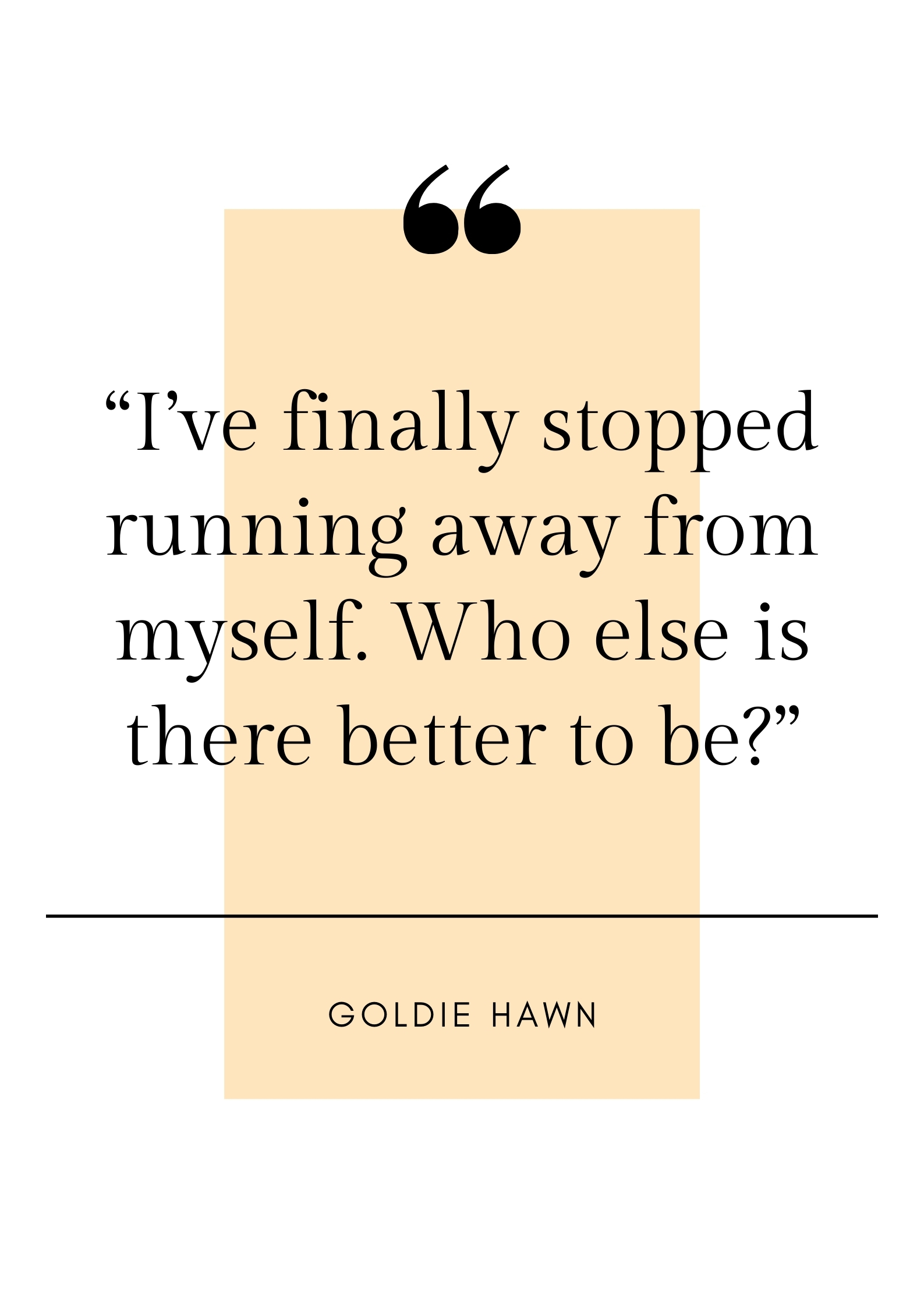goldie hawn quote