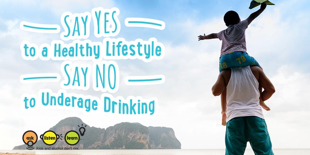 say no underage drinking