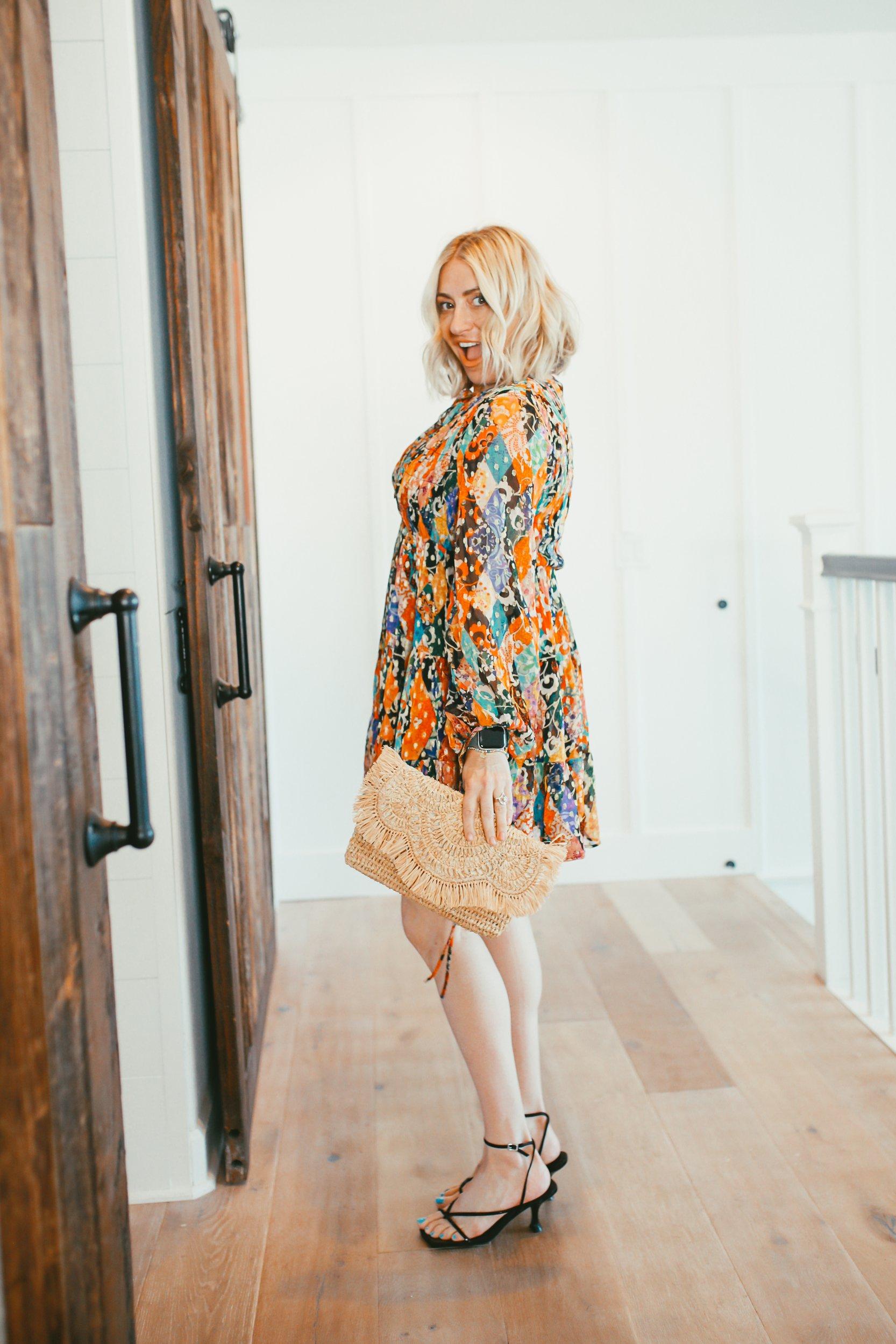 woman posing in hallway