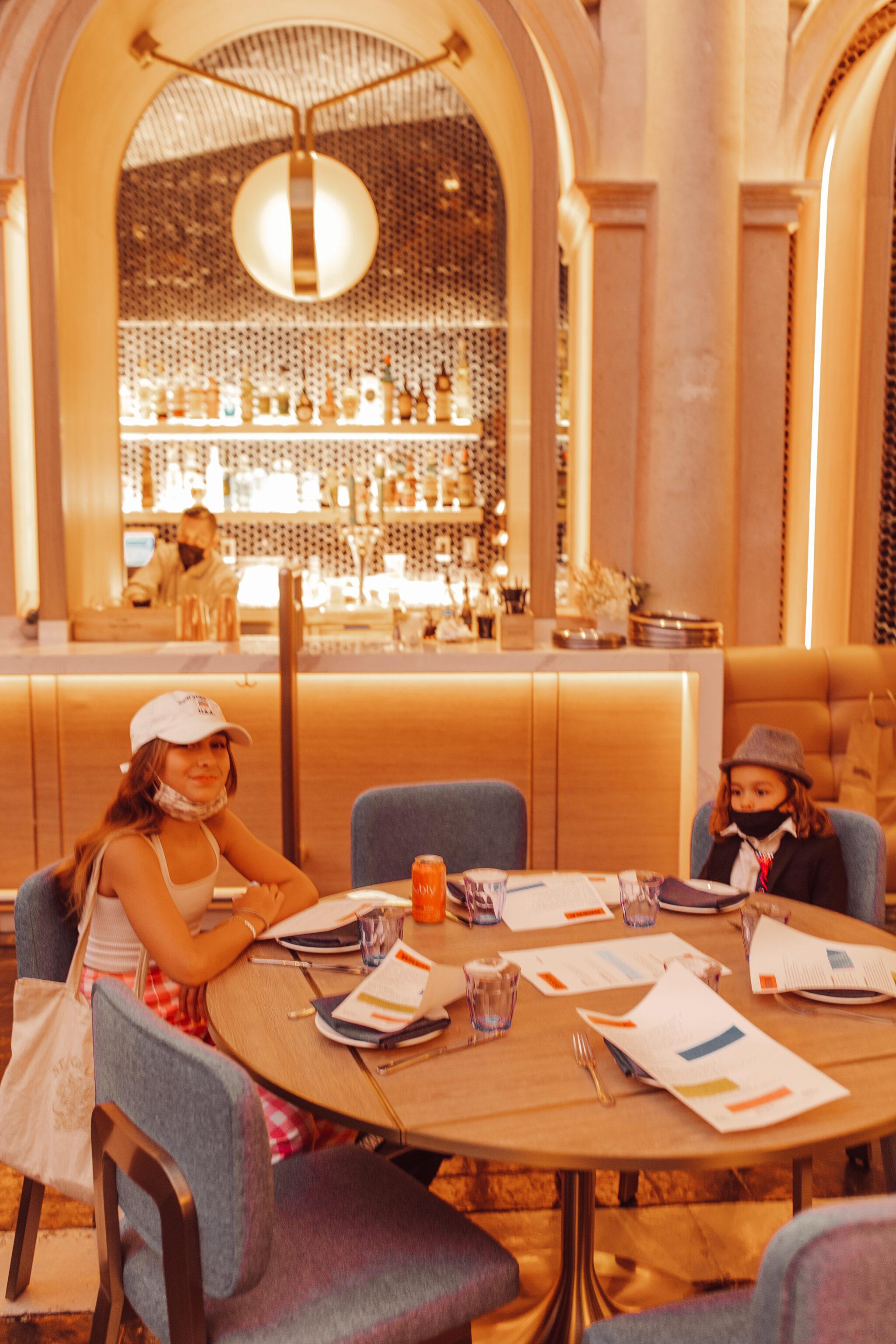 kids in a restaurant