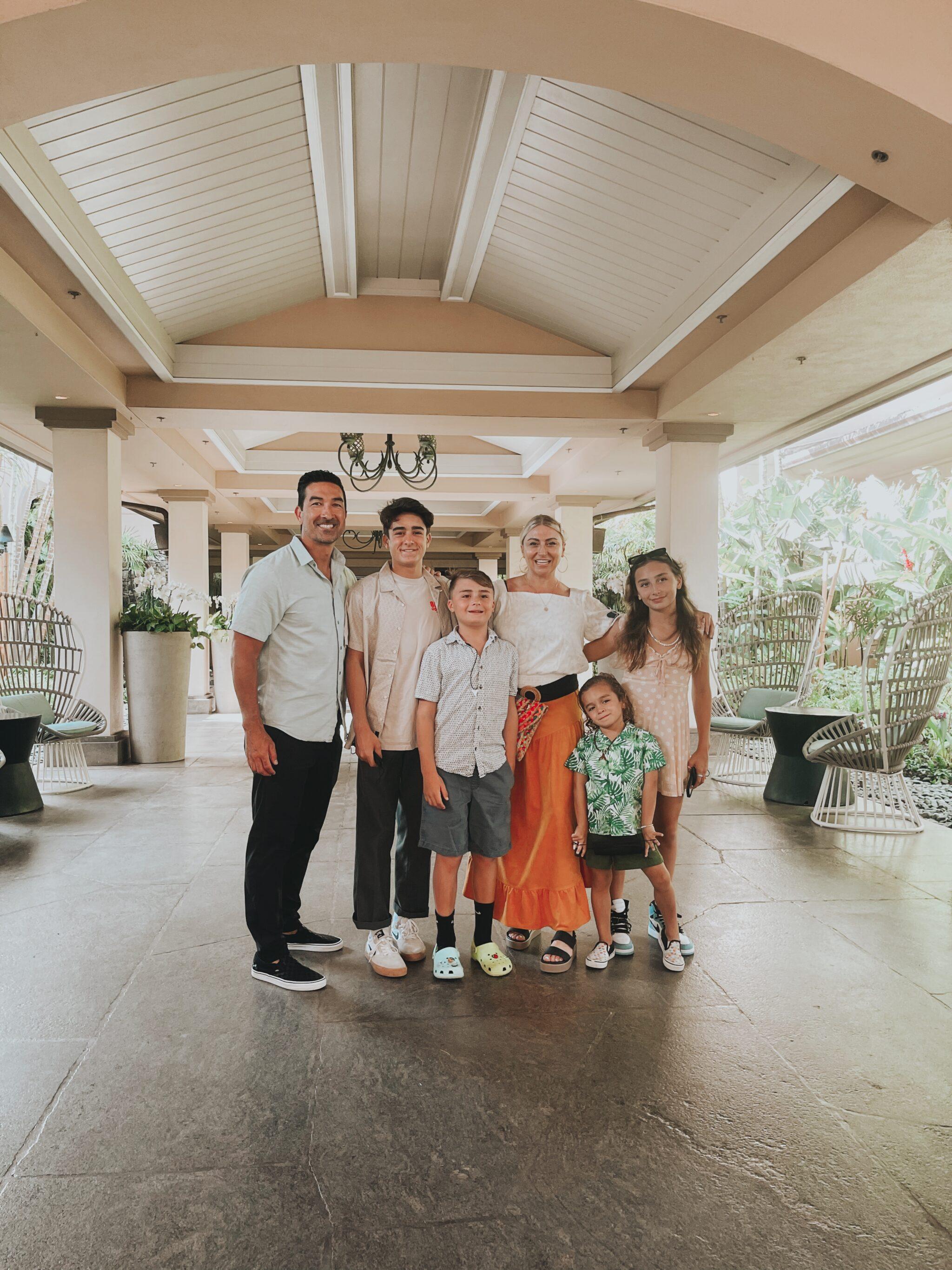 family at ritz carlton maui