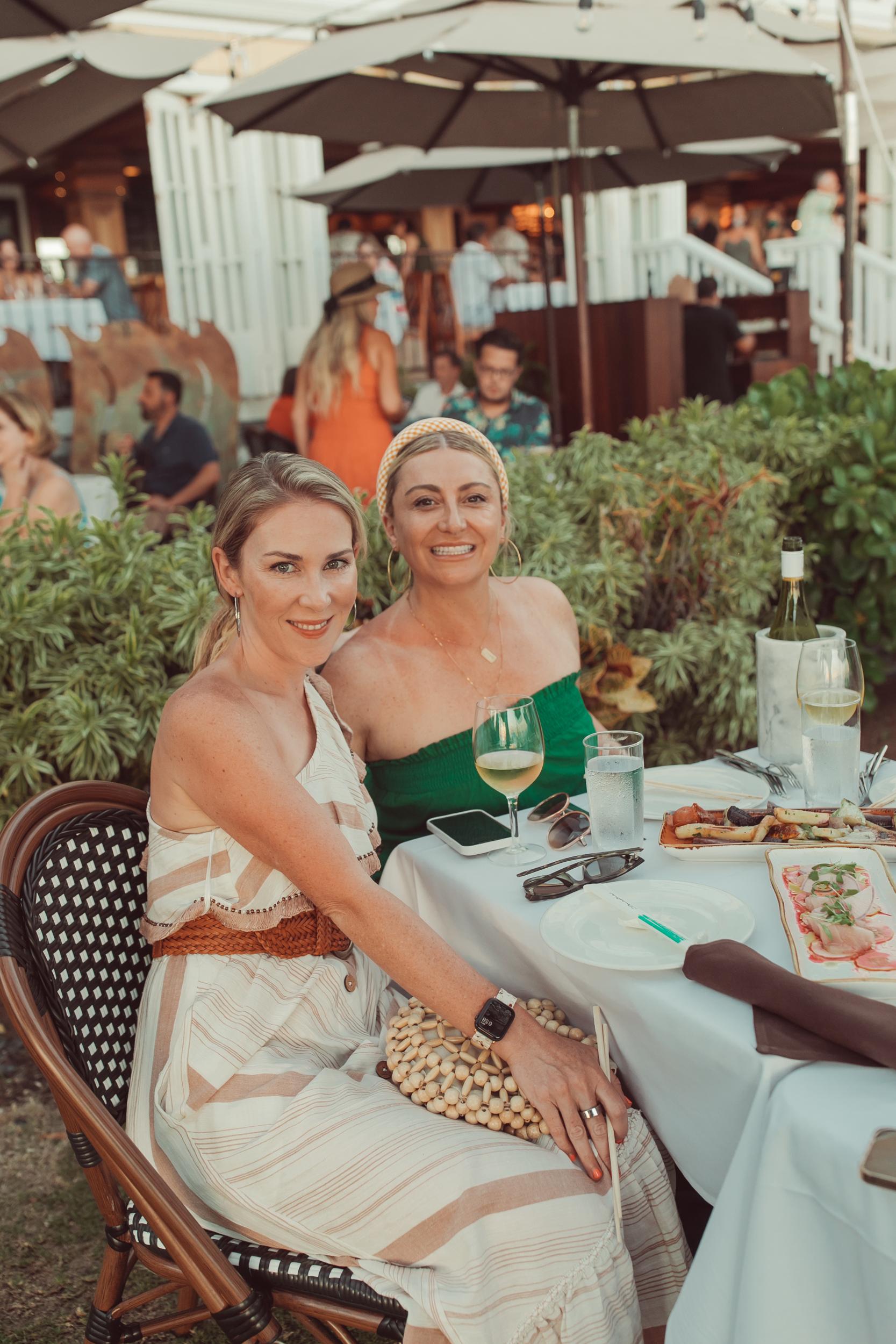 friends at outdoor restaurant