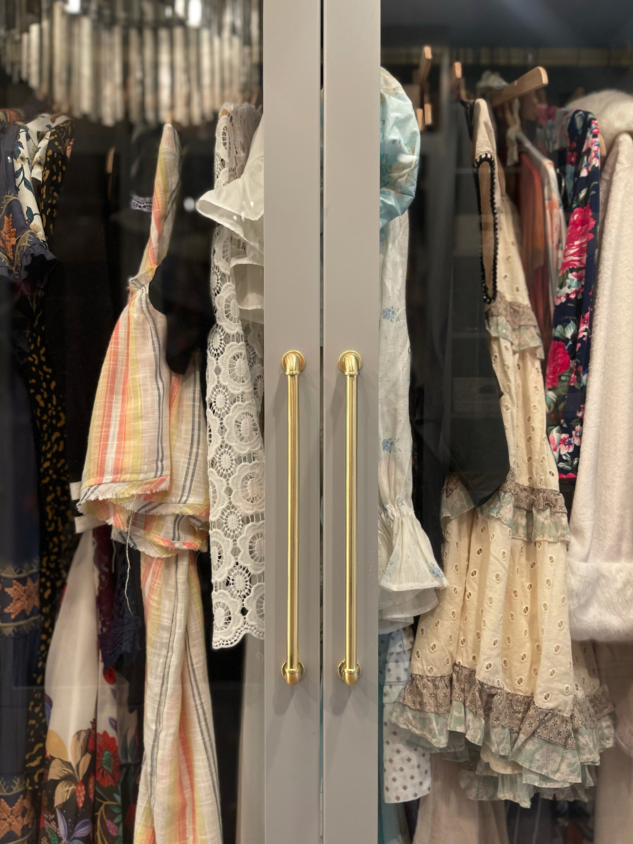 glass clothing cabinet