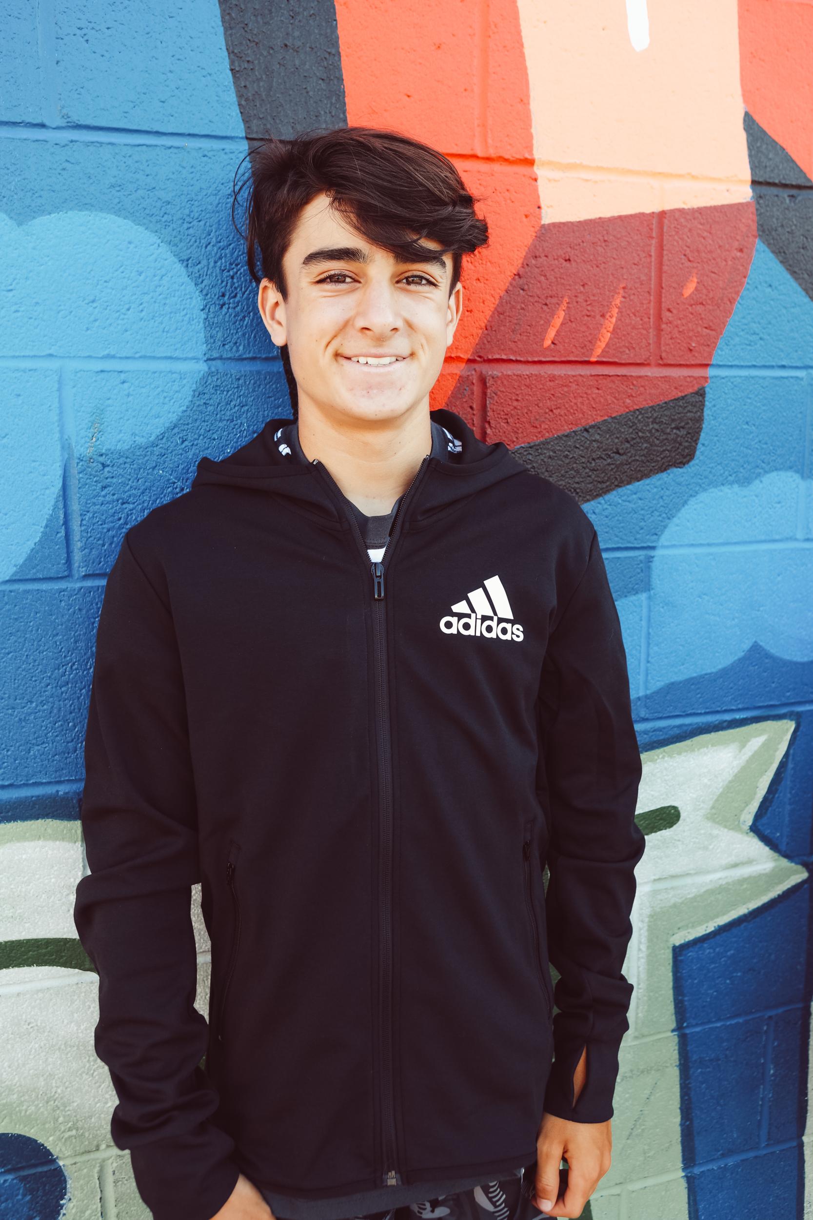 boy in school clothes
