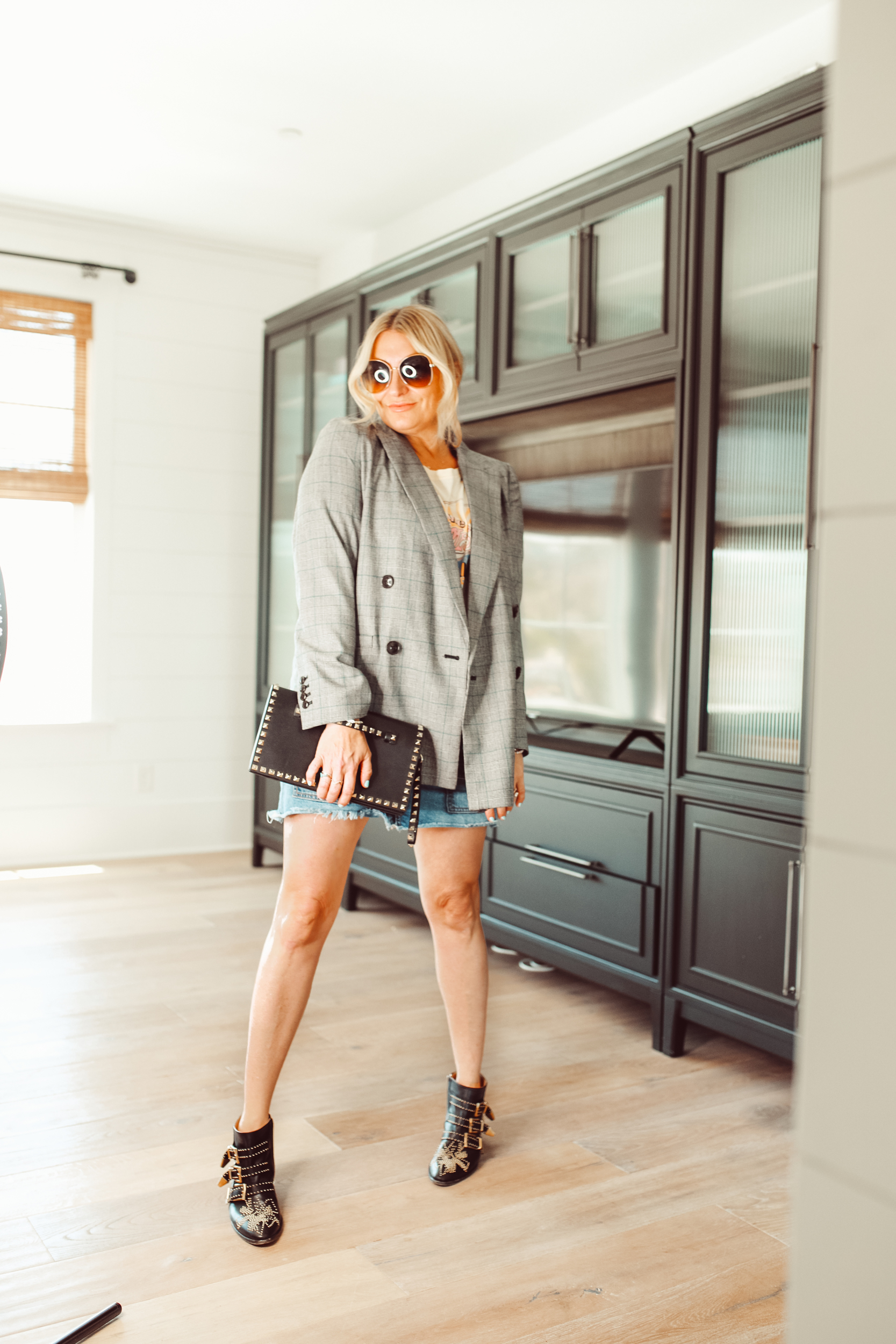 woman in cool outfit