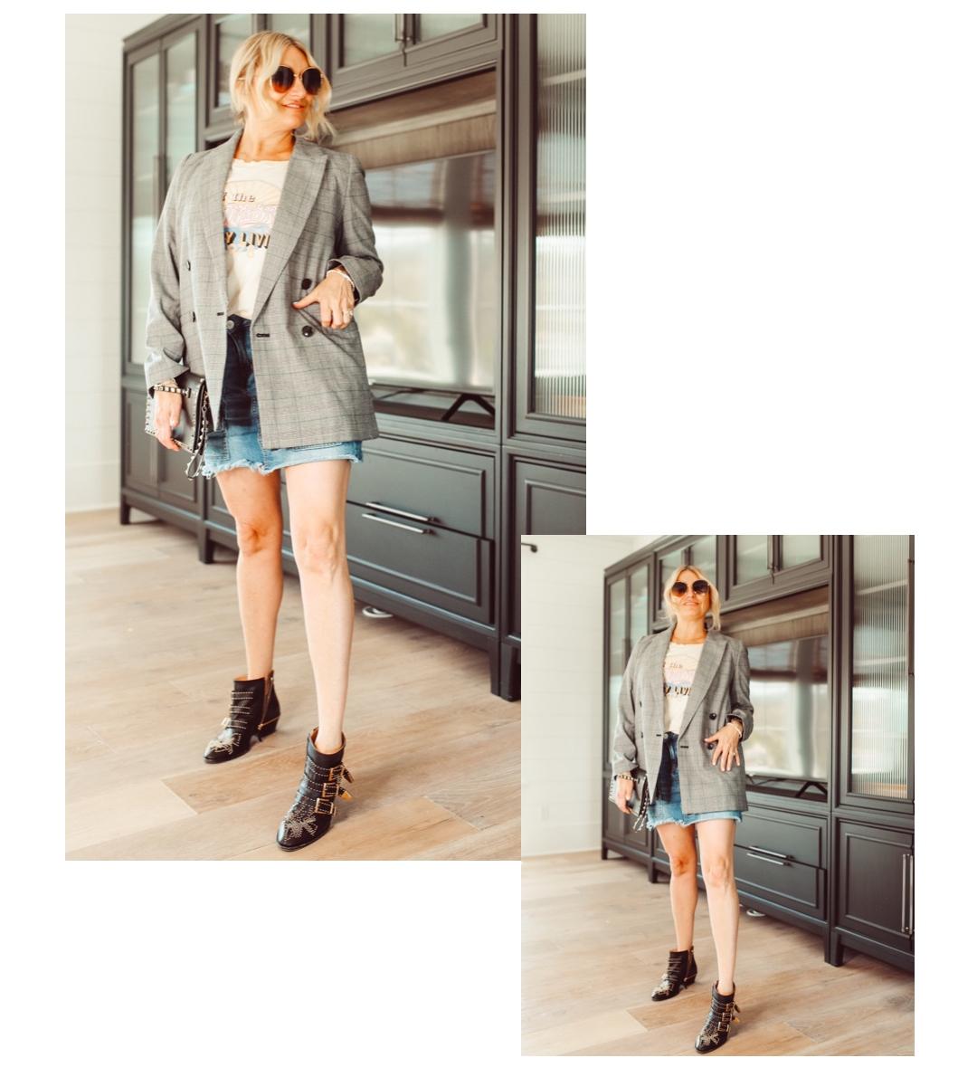 plaid blazer style