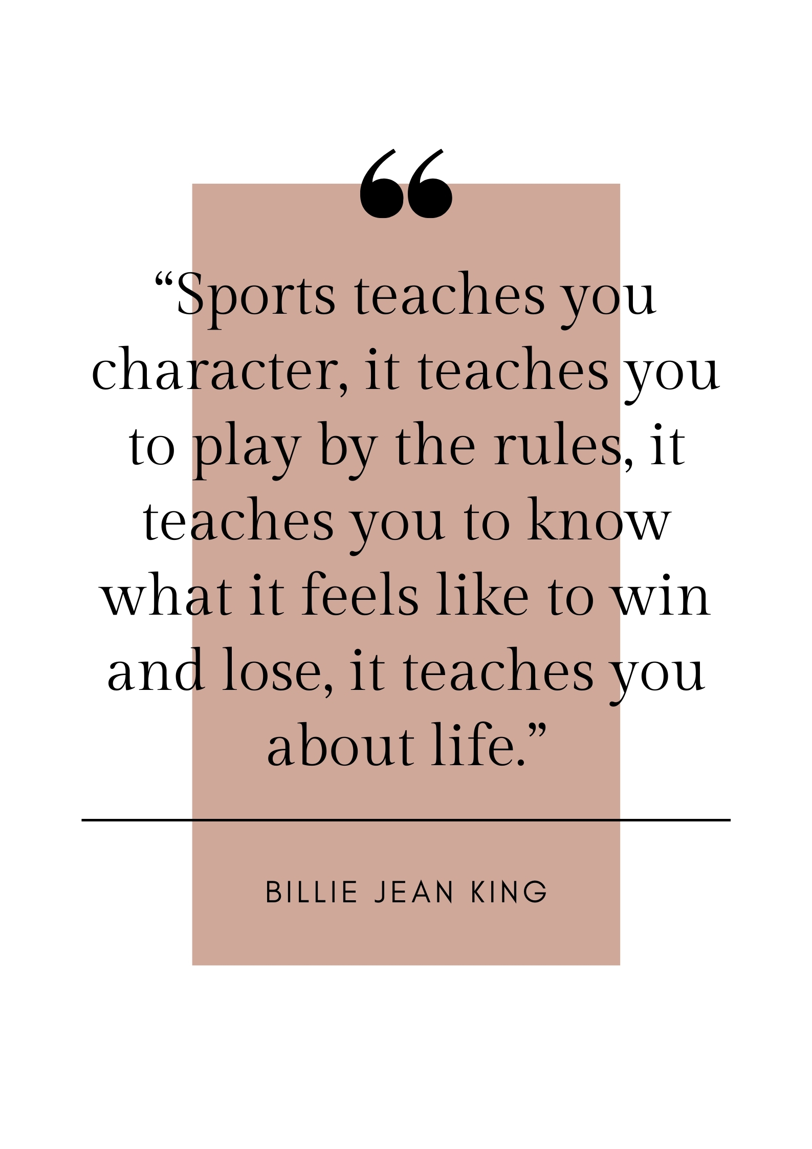billie jean king sports quote