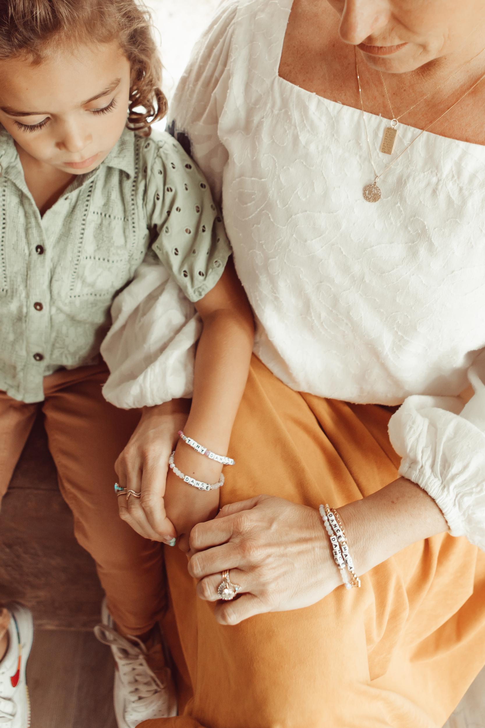 mom and child matching bracelets